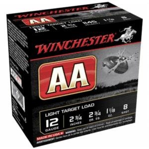"""Winchester Shotshell 12 Ga 1 1/8 Oz #8 2 3/4"""" AA 1145 Fps (25)"""