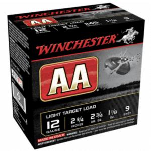 """Winchester Shotshell 12 Ga 1 1/8 Oz #9 2 3/4"""" AA 1145 Fps (25)"""