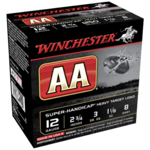 "Winchester Shotshell 12 Ga 1 1/8 Oz #8 2 3/4"" AA Super-Handicap 1250 Fps (25)"
