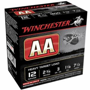 """Winchester Shotshell 12 Ga 1 1/8 Oz #7.5 2 3/4"""" AA Heavy Target 1200 Fps (25)"""