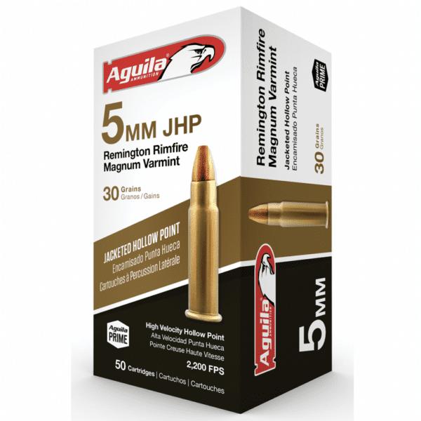 Aguila 5mm Rem Rimfire Magnum 30 Gr Jacketed HP Varmint (50)