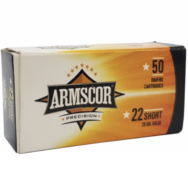 Armscor 22 Short 29 Gr Solid Point (50)