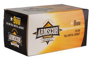 Armscor 9mm 124 GR FMJ VALUE PACK (100)