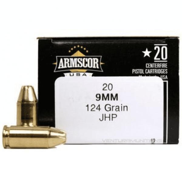 Armscor 9mm 124 Gr JHP (20)