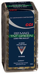 CCI 22 WMR 30 Gr Lead Free HP TNT Green (50)