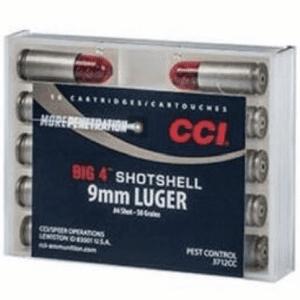 CCI 9MM Big 4 Shotshell #4 Shot 45 Gr (10)
