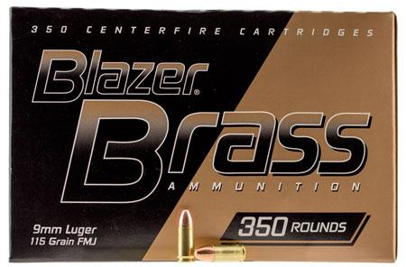 CCI Blazer Brass 9MM 115 Gr FMJ (350)