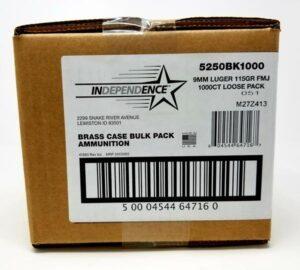 Independence 9mm Full Metal Jacket 115 GR (1000)