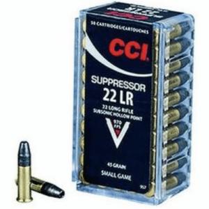 CCI 22 LR 45 Gr SubSonic HP Suppressor (50)