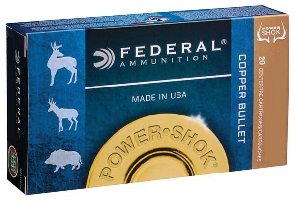 Federal 300 Blackout 120 Gr. Copper HP Power-Shok (20) Lead Free