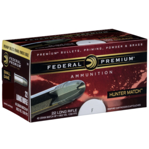 Federal 22 LR 40 Gr HV HP Hunter Match (50)