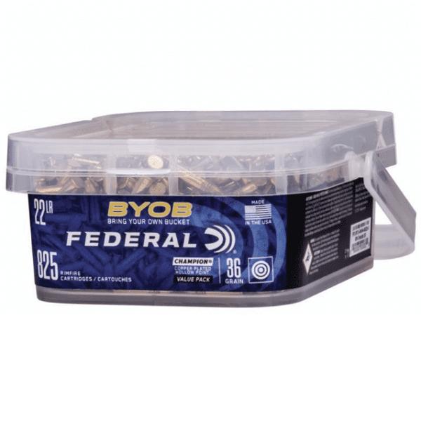 Federal 22 LR 36 Gr Copper-Plated HP BYOB (825)