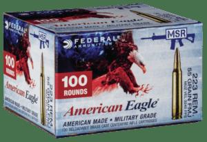 Federal 223 Rem 55 Gr American Eagle FMJBT (100)