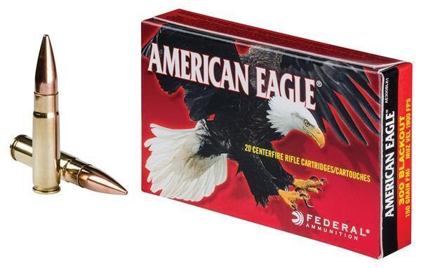 Federal 300 Blackout 150 Gr. American Eagle FMJ (20)