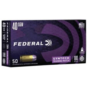 Federal 40 S&W 180 Gr TSJ American Eagle SYNTECH (50)