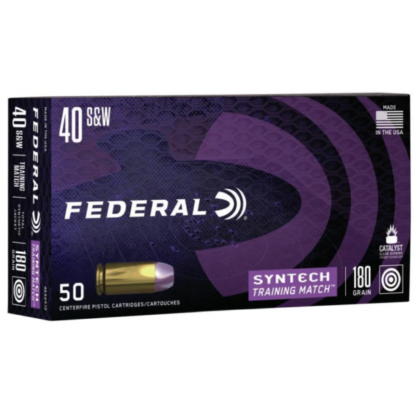 Federal 40 S&W 180 Gr TSJ American Eagle SYNTECH (50)