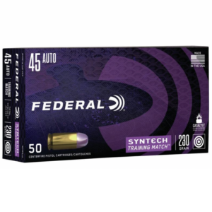 Federal 45 Auto 230 Gr TSJ American Eagle Training Match SYNTECH (50)