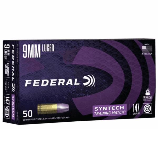 Federal 9MM 147 Gr TSJ American Eagle Training Match SYNTECH (50)