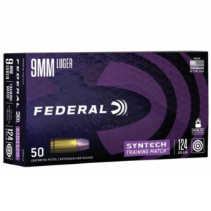 Federal 9MM 124 Gr TSJ American Eagle Training Match SYNTECH (50)
