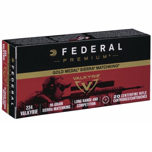 Federal 224 Valkyrie 90 Gr Gold Medal Sierra MatchKing (20)