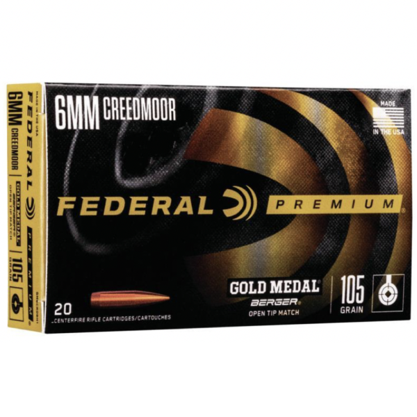 Federal 6mm Creedmoor 105 Gr Gold Medal Berger Hybrid BTHP (20)