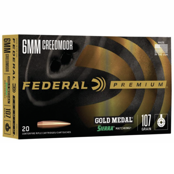 Federal 6mm Creedmoor 107 Gr Gold Medal Sierra Matchking (20)