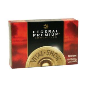 "Federal 12 Gauge Vital-Shok 2.75"" Buckshot 12 Pellets 00 Buck (5)"