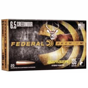 Federal 6.5 Creedmoor 135 Gr Gold Medal Berger Hybrid Hunter VLD (20)