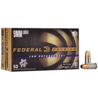 Federal 9mm 147 Gr Premium Personal Defense LE HP HST (50)