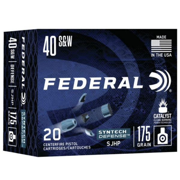 Federal 40 S&W 175 Gr SHP American Eagle SYNTECH Defense (20)