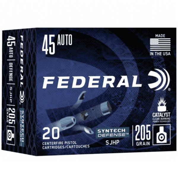 Federal 45 ACP 205 Gr SHP American Eagle SYNTECH Defense (20)