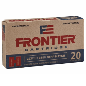 Frontier 223 Rem 68 Gr Hornady Boat Tail Hollow Point Match (20)