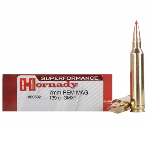 Hornady 7mm Rem Mag 139 Grain GMX (MonoFlex) Superformance (20)