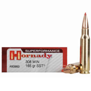 Hornady 308 Win 165 SST (Super Shock Tip) Superformance (20)