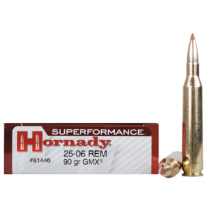 Hornady 25-06 Rem 90 Grain GMX (MonoFlex) Superformance (20)