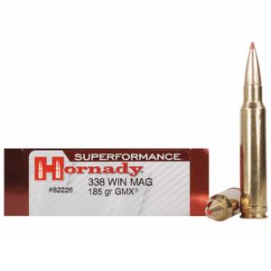 Hornady 338 Win Magnum 185 Grain GMX (MonoFlex) Superformance (20)