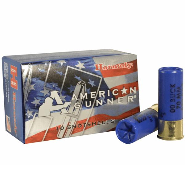 Hornady 12 Ga Reduced Recoil 00 Buckshot American Gunner (10)