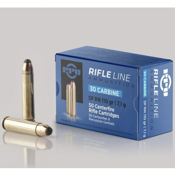 Prvi 30M1 Carbine 110 Grain Soft Point Round Nose (50)