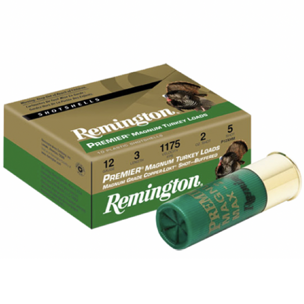 "Remington 12 Ga 3"" 4 Shot Copper-Plated Premier Magnum Turkey Load (10)"