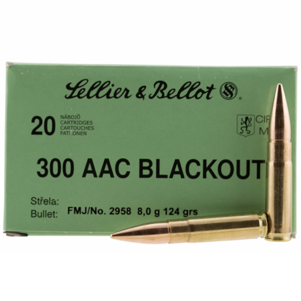 Sellier & Bellot 300 AAC Blackout 124 Gr FMJ (20)