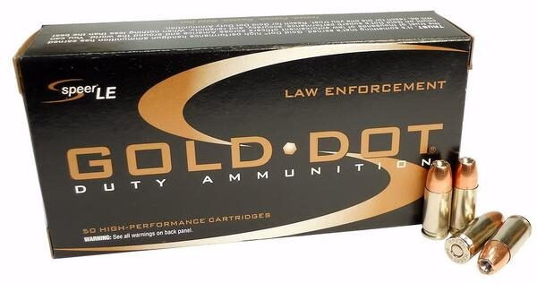Speer 9MM 115 Gr Gold Dot Duty Ammunition GDHP (50)