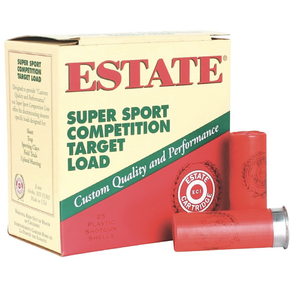 Estate 12 Gauge 1 1/8 Oz #7.5 2 3/4″ 3DR Super Sport (25)