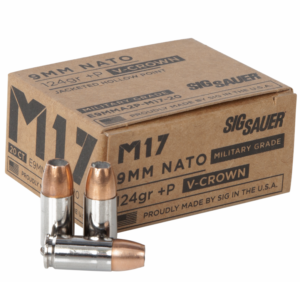 Sig Sauer 9MM +P 124 Gr Performance V-Crown JHP M17 (20)