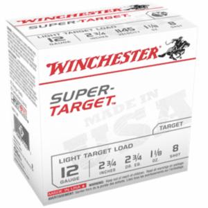 """Winchester 12 Gauge 2 3/4"""" 1 1/8 oz 8 Shot Super Target (25)"""