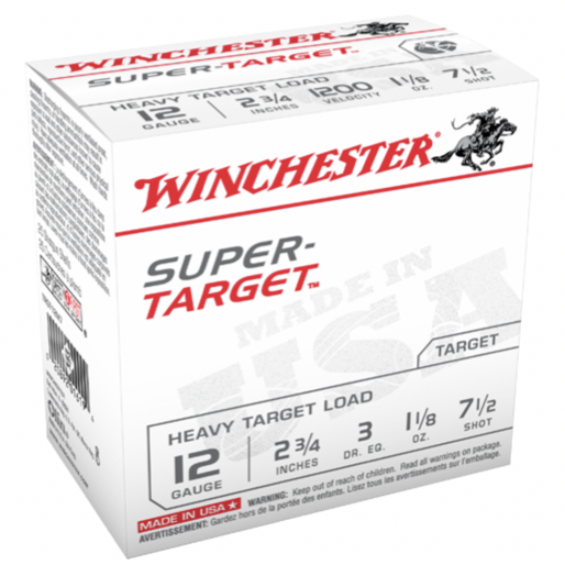 "Win Shotshell 12 Ga 1 1/8 Oz #7.5 2 3/4"" 3Dr Super Target 1200 Fps (25)"