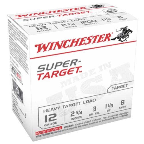 """Win Shotshell 12 Ga 1 1/8 Oz #8 2 3/4"""" 3Dr Super Target 1200 Fps (25)"""