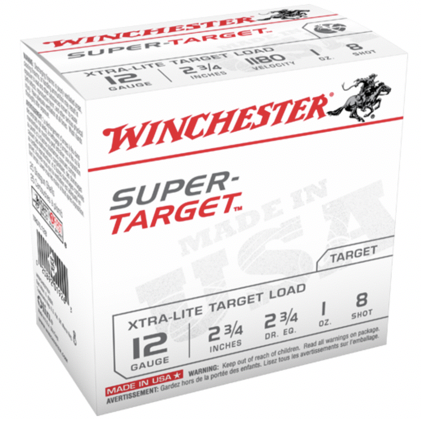"Win Shotshell 12 Ga 1 Oz. #8 2 3/4"" Super Target 1180 Fps (25)"