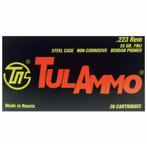 Tula Ammo 223 55 Grain FMJ Steel Case (20)