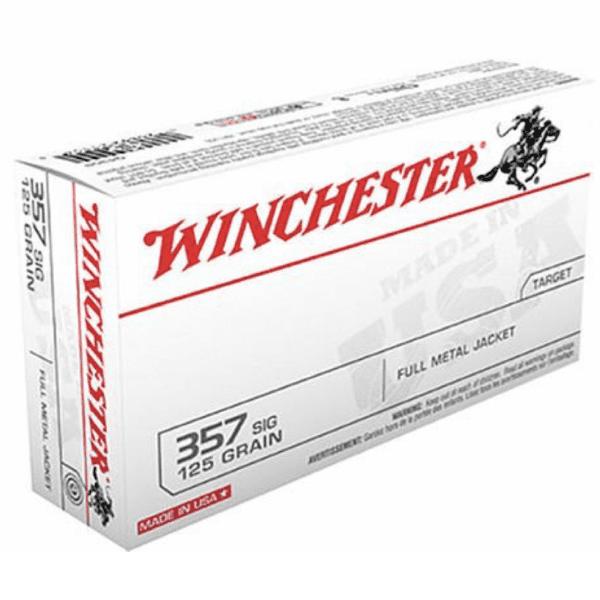 Winchester 357 Sig 125 Gr FMJ (50)