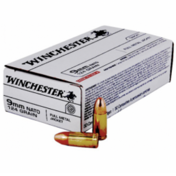 Winchester 9mm NATO 124 Gr FMJ (50)